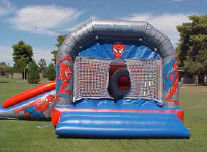 15x20 3 in 1 Spider Bounce & Slide with Obstacles Inside
