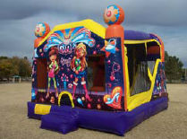 21x16 4 in 1 It's a Girl Thing Bouncer with 14' Slide & Basketball Hoops Inside