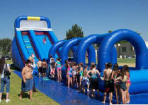 24' Super Water Slide (single lane with slip & slide attached)