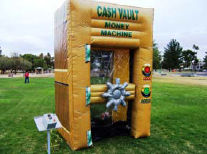 Inflatable Vault. Comes complete with timer and money pouch.