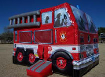 13x16 Fire Truck Bouncer