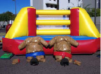 20x20 Boxing Sumo Combo Includes Oversized Adult Boxing Gloves, Head Gear and 2 Sumo Suits