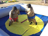 25x25 Inflatable Sumo Ring with Sumo Suits