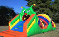 Caterpillar Mini Obstacle Course Features Small Bounce Area & Obstacles Inside