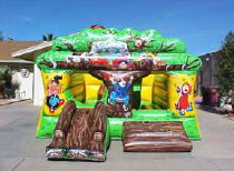 14x21 3 in 1 Tree House Bounce & Slide with Obstacles Inside