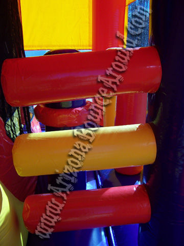 5&1 Choose Your Theme Bouncer with 14' Slide and Basketball hoop and Obstacles inside