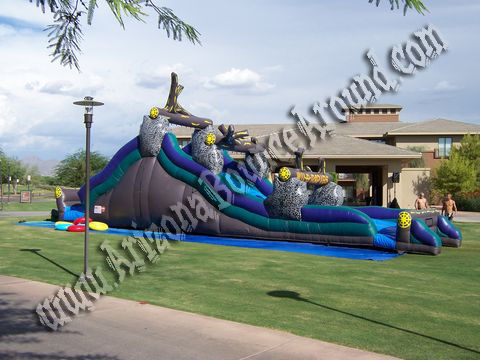 Huge inflatable water slide in Scottsdale
