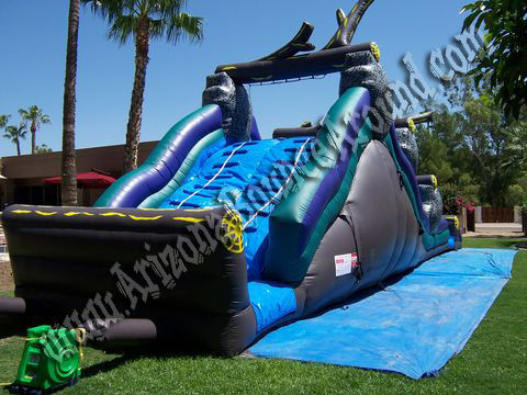 Big inflatable water slide rental for adult parties in Phoenix az