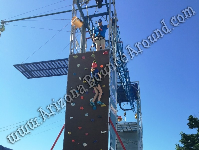 40 foot tall rock wall rentals in Phoenix Arizona