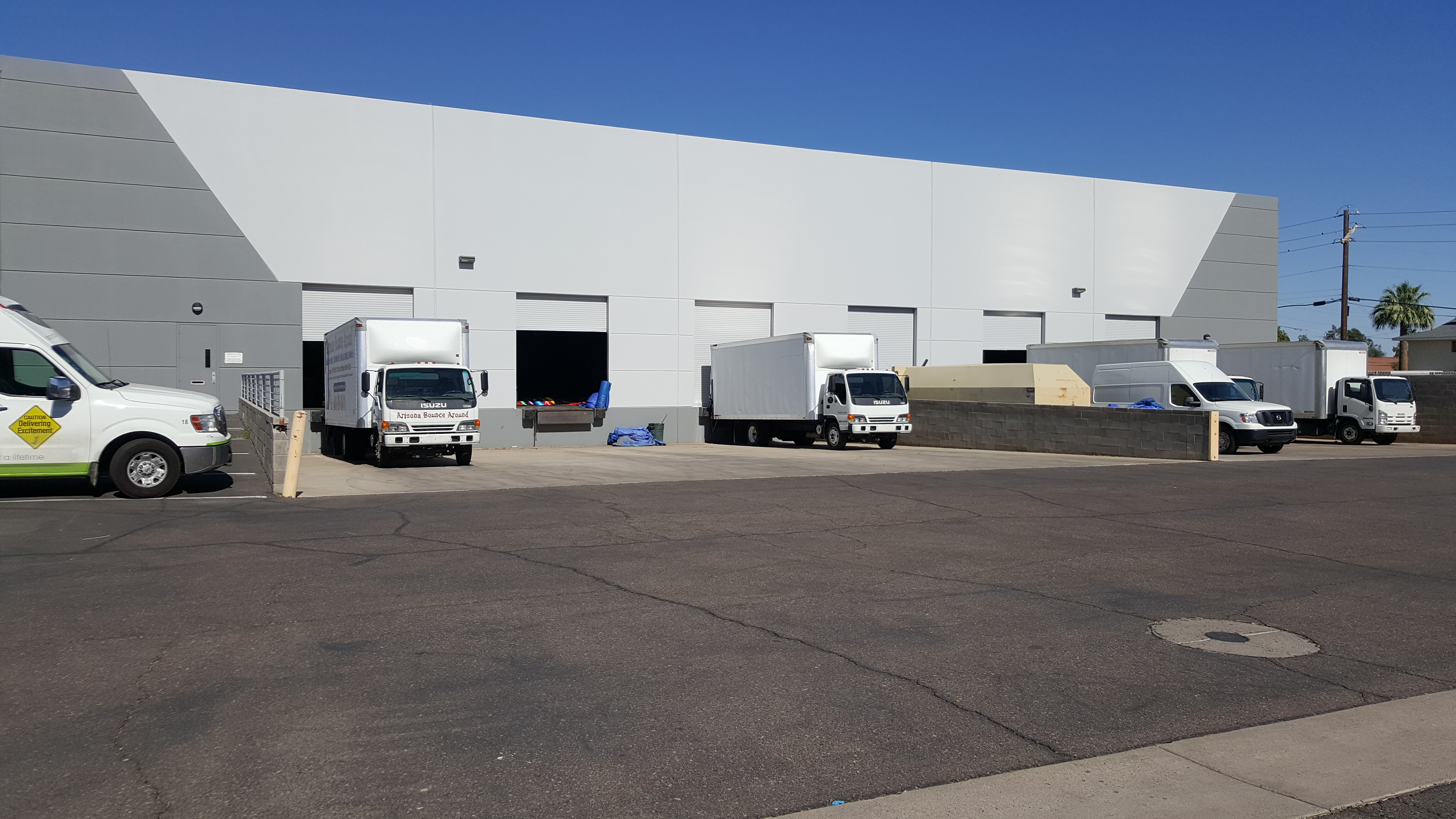 ABA Party Rental Warehouse Loading Dock area Phoenix Arizona