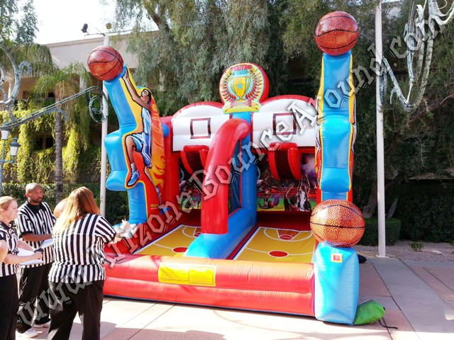Basketball Hoop Game Rental for company parties in Phoenix, Tempe AZ