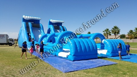 Big Inflatable water slide rentals without pools Phoenix AZ