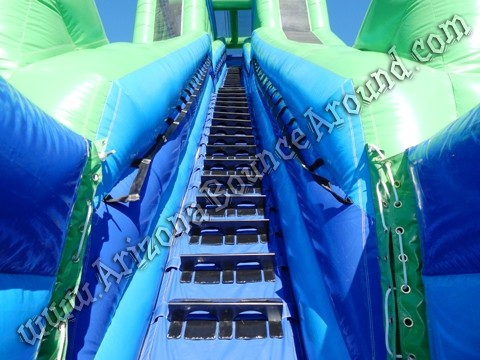 Big duel lane water slide rentals in Phoenix Arizona