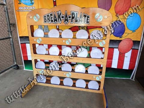 Break a plate carnival game rentals Phoenix
