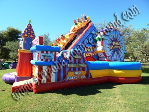 Carnival themed Inflatable obstacle course rentals in Phoenix Arizona