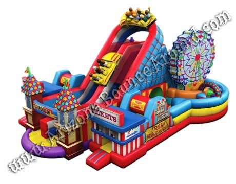 Carnival themed obstacle course rental