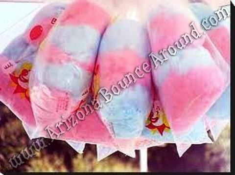Cotton candy in bags