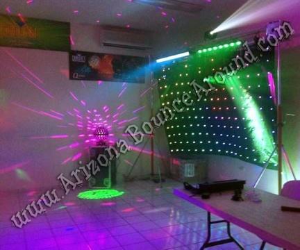 Dance Party Lights For Rent Scottsdale Arizona DJ Backdrop Rentals Phoenix