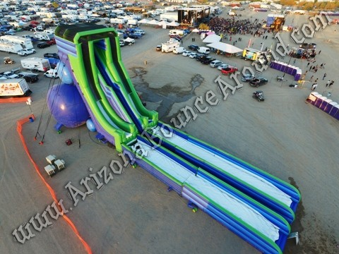 companies that rent big water slides for music festivals