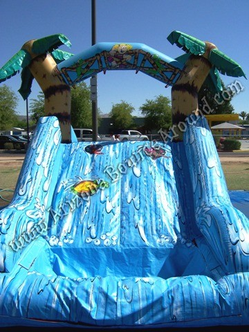 Dual lane water slide rental for small kids Tempe Arizona
