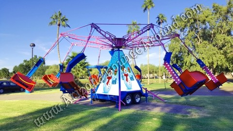 Energy Storm Carnival Ride Rental with custom branded center