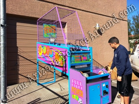 Full Court Fever electronic basketball game rental phoenix