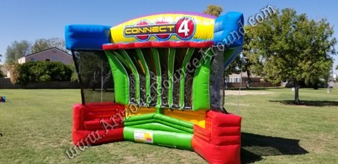 Giant Inflatable Connect 4 Basketball game rental Phoenix Arizona