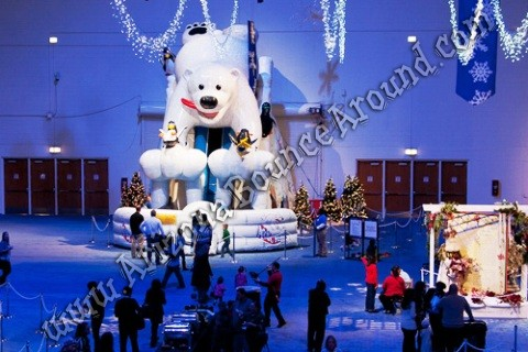 Giant Inflatable Polar Bear Slide rental Phoenix Arizona