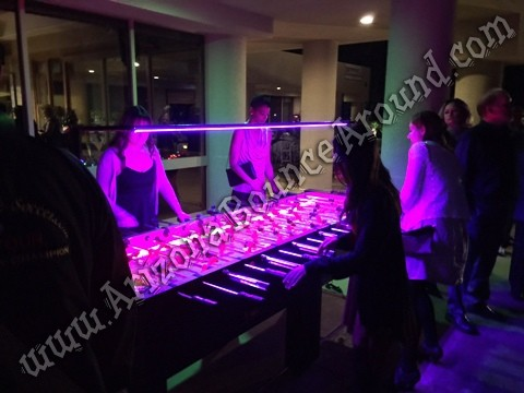 Giant LED Foosball Table Rentals in Phoenix Arizona