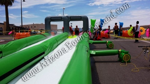 Giant inflatable slip n slides for the street