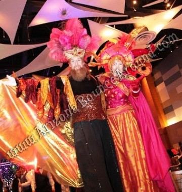 Hire stilt walkers for parties and events Arizona