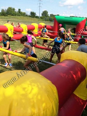 Human Foosball with Children Playing