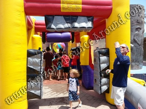 Inflatable Car Wash misting tent rental AZ