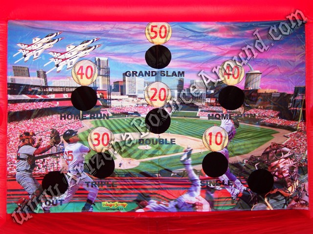 Inflatable baseball batting game rental backdrop Phoenix AZ CA