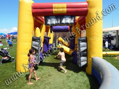 Inflatable car wash misting tent for events in Arizona