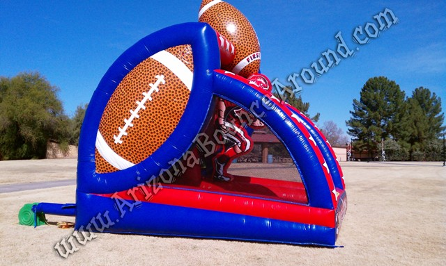 Inflatable football quarterback passing game rental Phoenix Arizona