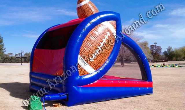 Inflatable football throw game rental Phoenix Arizona