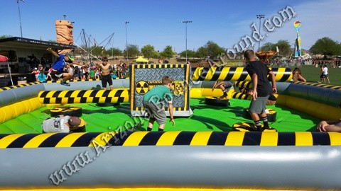 Inflatable meltdown game rental AZ