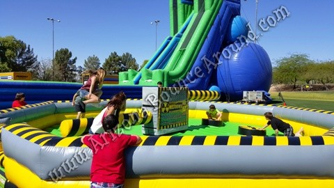 Inflatable meltdown game rental Phoenix
