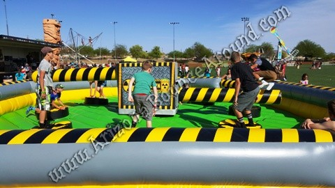 Inflatable meltdown game rental