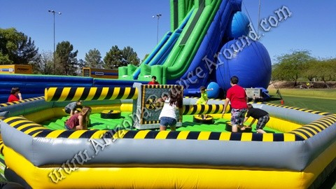Inflatable meltdown game rentals