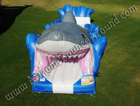 Inflatable shark themed water slide rental Phoenix Arizona
