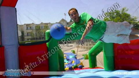 Inflatable sports games for sports parties Phoenix Arizona