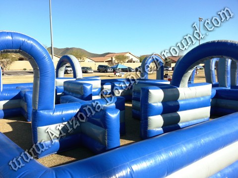 Inflatable water tag game rental Phoenix Arizona