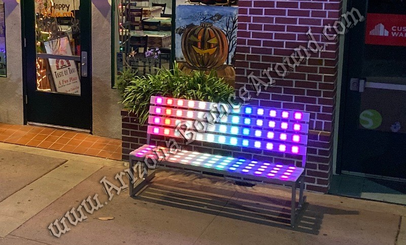 LED Park Benchs for rent in Arizona