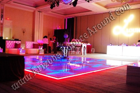 LED dance floor rentals for weddings in Phoenix Scottsdale Arizona