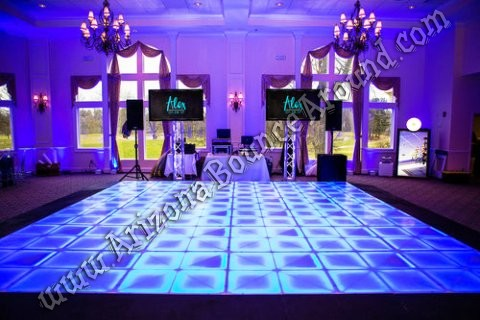 Light up dance floors for rent in AZ
