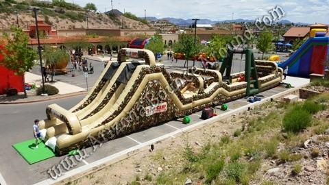 Military themed obstacle course rental