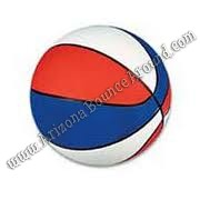 Mini basketball game rental red white and blue