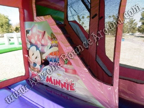 Minnie Mouse Bounce House Rentals with slide
